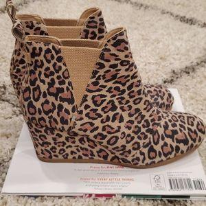 Toms Kelsey Bootie Leopard